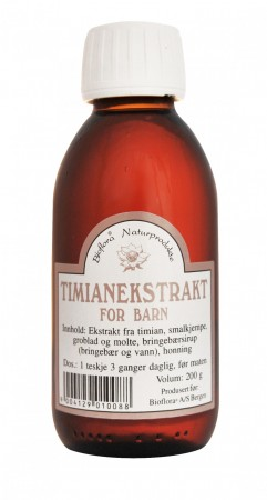 Hostesaft Timian Barn